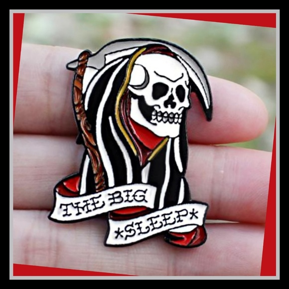 The Big Sleep High Quality Enamel Lapel Pin Boutique